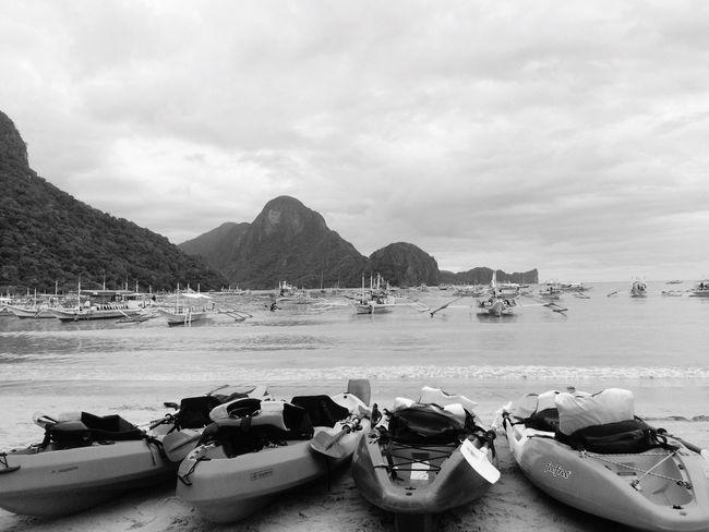 Nature Mountain Boats Seaside