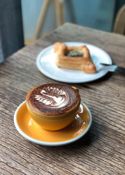 Easy Breakfast Food And Drink Morning Cappuccino Breakfast Coffee Time Food And Drink Food Coffee Coffee - Drink Drink Plate Freshness Baked Coffee Cup Refreshment Close-up Table