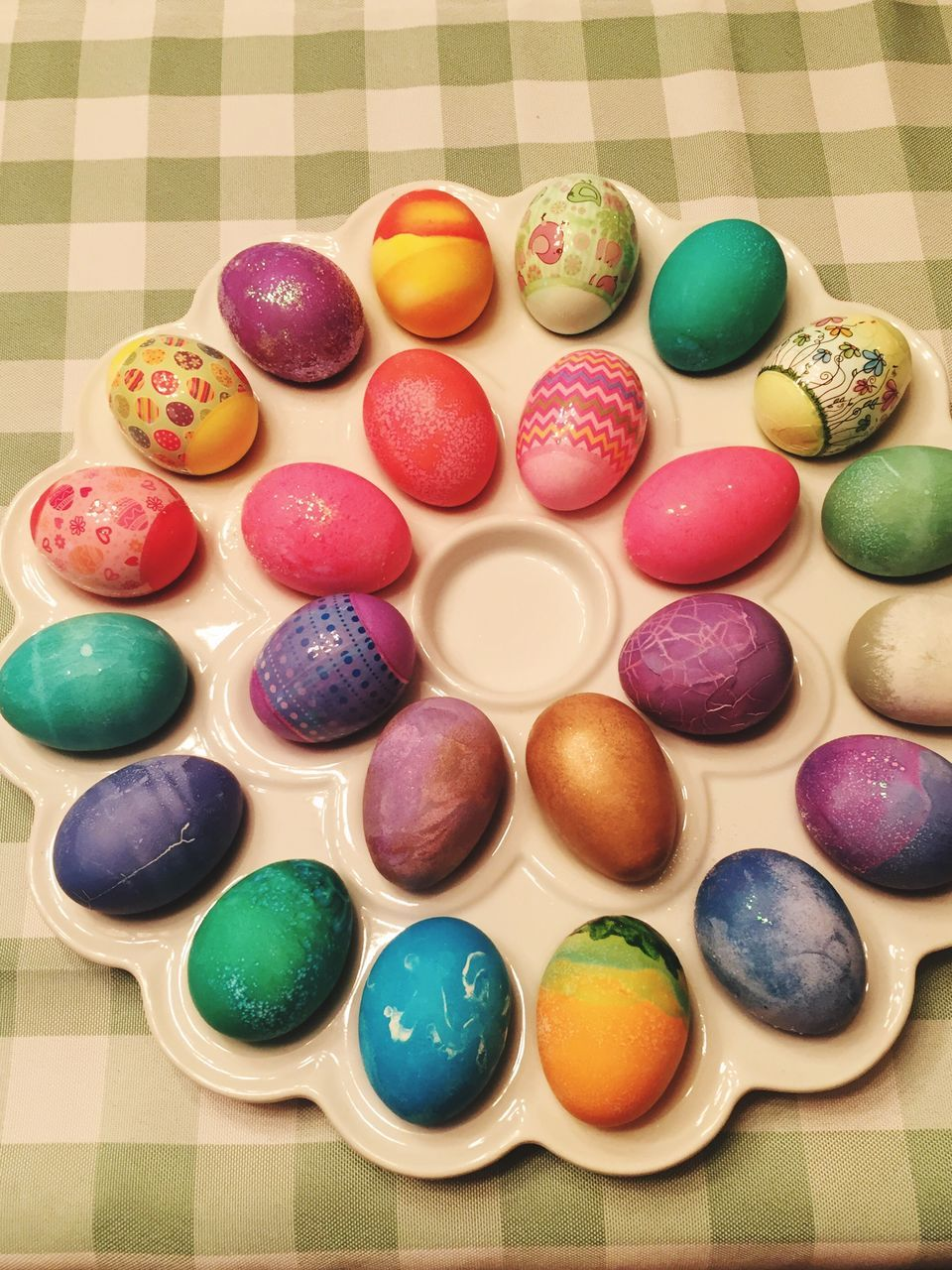 multi colored, variation, colorful, easter, still life, in a row, indoors, choice, easter egg, large group of objects, sweet food, high angle view, no people, close-up, day