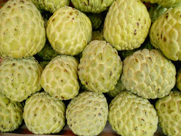 Full Frame Shot Of Custard Apples For Sale In Market