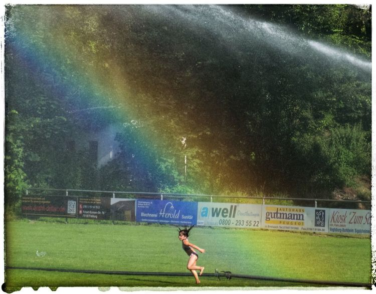 Colour Of Life Little Girl Dancing Under The Rainbow Rainbow Rainbow Colors Enjoying Life Taking Photos Showcase August 2016 The Week Of Eyeem Enjoy Life