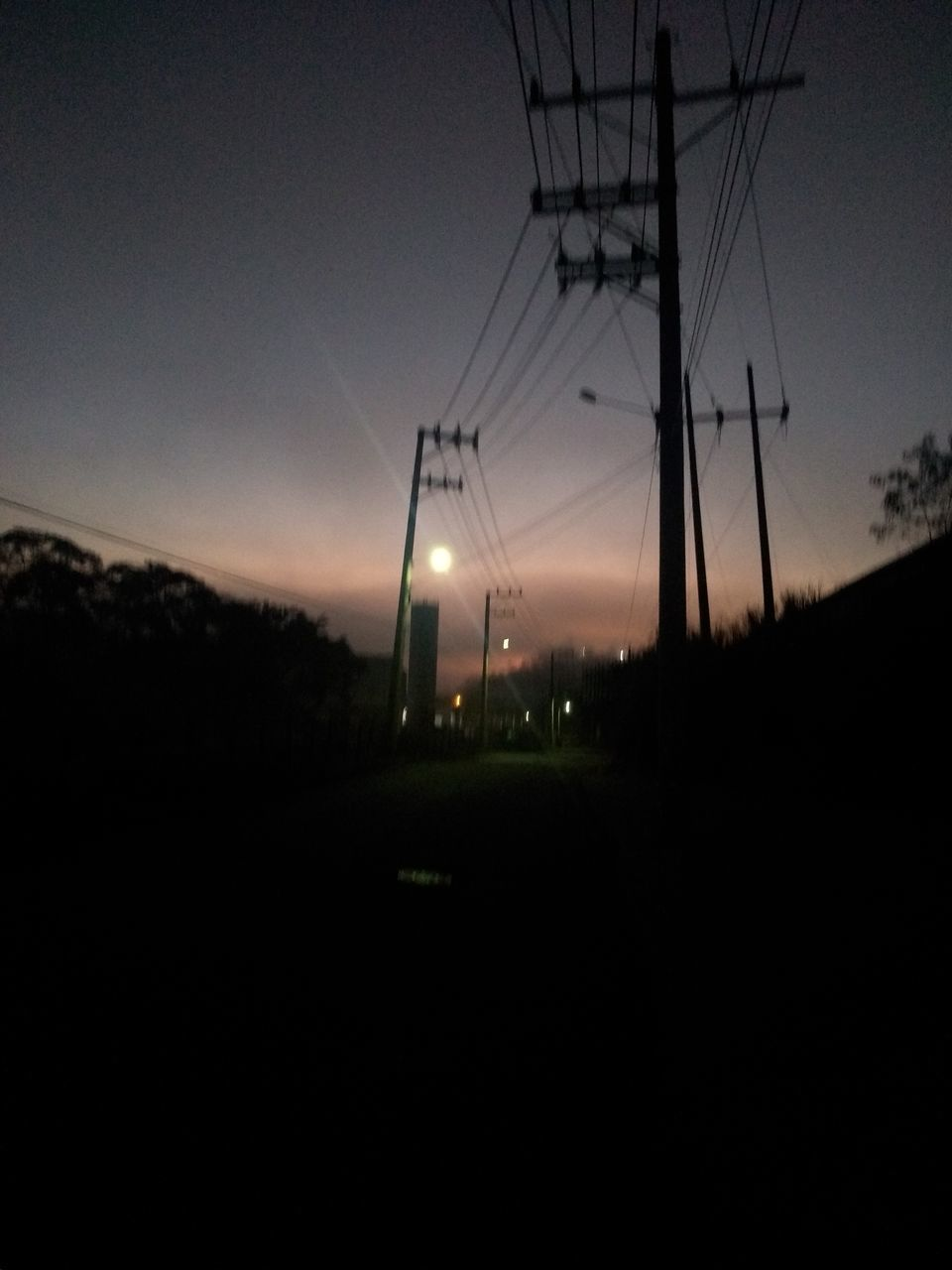 sky, electricity, electricity pylon, environment, landscape, power supply, technology, cable, fuel and power generation, power line, nature, no people, field, copy space, connection, land, silhouette, sunset, lighting equipment, dusk, outdoors, dark, telephone line