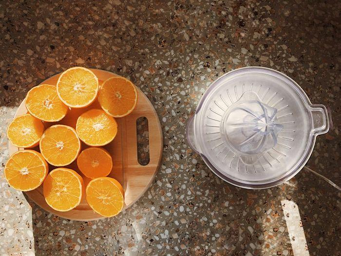 Close-up view of oranges