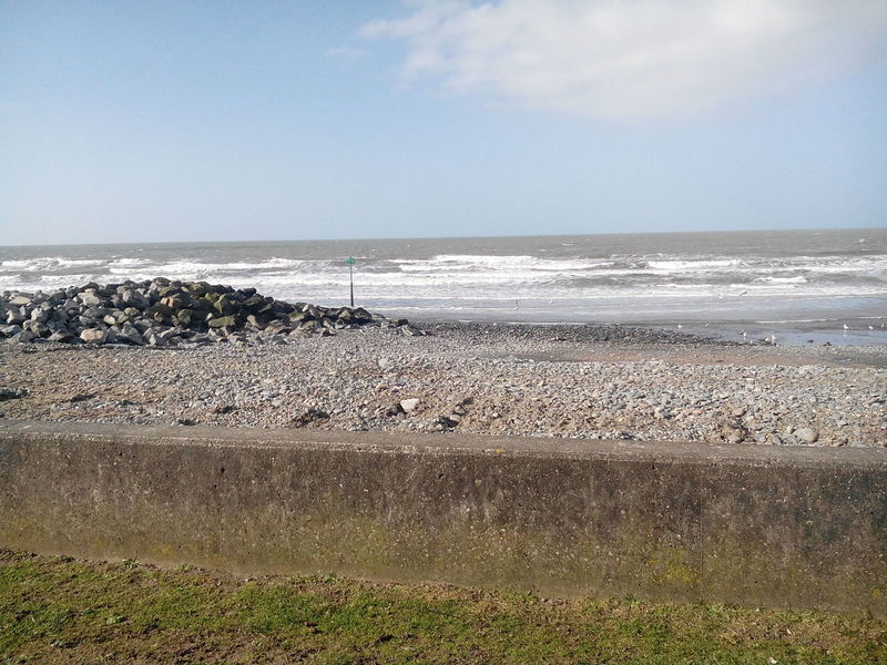 Sea Seaside Borth Wales British Britain Water Beach