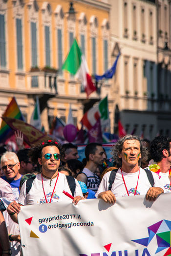 Gay Pride in Reggio Emilia ( 3rd June 2017 ) to protest against Xenophobia, Homophobia and for Gay Marriage and rights Crowd Day Event Flag Gay Pride Italy Large Group Of People Politics Portrait Protestor Real People The Photojournalist - 2017 EyeEm Awards The Street Photographer - 2017 EyeEm Awards Togetherness