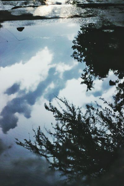 Reflection Rainy Days Roads Clouds And Sky Blue Sky Black Clouds Lifeinshots Lifeinreflection Photography Canon1200d Canon 50mm