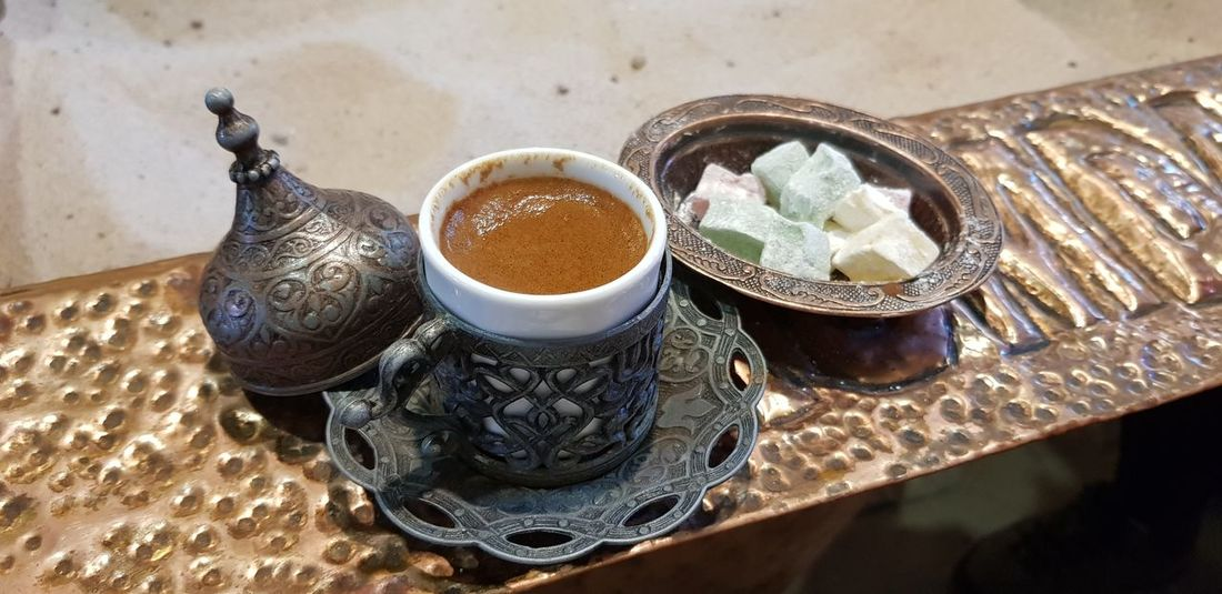 Turkish Coffee Coffee Turkish Coffee Turkish Delight Turkish Dessert Izmir şirinceturkey Şirince İzmir Şirince Köyü Turkey EyeEm Selects Drink High Angle View Bowl Table Close-up Food And Drink
