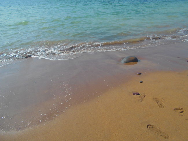 Beach Beauty In Nature Blue Coastline Day Horizon Over Water Idyllic Nature No People Non-urban Scene Ocean Outdoors Remote Rippled Sand Scenics Sea Shore Tranquil Scene Tranquility Water Wave