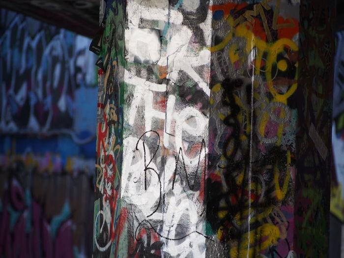 Close-up Graffiti London Obscene Skate Park Straight Outta London Street Art Underground