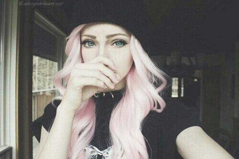 Girl Beauty Pink BlueEyes Swag NaturalBeauty Skatergirl Ombre Hair Hipster Cute