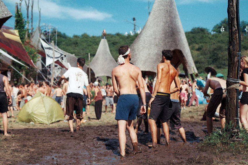 Analogue Photography Dancing Day Film Leisure Activity Lifestyles Medium Group Of People Mud Nature Outdoors Ozora Psychedelic Sky Vacations Festival Season