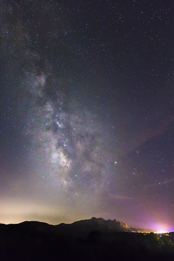 Milky way over Rocce Sarde - San Pantaleo, Sardinia Astronomy Beauty In Nature EyeEmNewHere Galaxy Landscape Milky Way Mountain Nature Night No People Outdoors Rocce Sarde San Pantaleo Scenics Sky Star - Space Tranquility