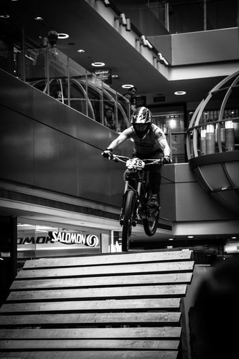 Friend's Bike Competition Airtime Bicycle Black And White Bmx  Bmx Bikes Casual Clothing City Life Competition Day Full Length Leisure Activity Lifestyles Mode Of Transport Racing Bicycles Adventure Club #urbanana: The Urban Playground