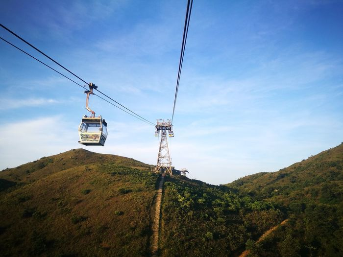 Ngongping360 Sky Rural Scene Hanging Outdoors Cloud - Sky Horizontal Nature Low Angle View Agriculture No People Overhead Cable Car Tree Day Beauty In Nature Ski Lift Ngongping360 NgongPing HongKong Hong Kong