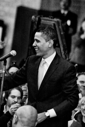 Barack Obama Black & White Crowds Obama Obama 2008 Speech Actor Arts Culture And Entertainment Black And White Black And White Photography Black&white Blackandwhite Blackandwhite Photography Blackandwhitephotography Bridegroom Campaign Celebration Cheerful Crowd Enjoyment Event Excitement Film Industry Formalwear Happiness Human Hand Indoors  Life Events Men Night People Presidential Campaign Smiling Stump Speech Suit Togetherness Wedding Wedding Ceremony Well-dressed Young Adult
