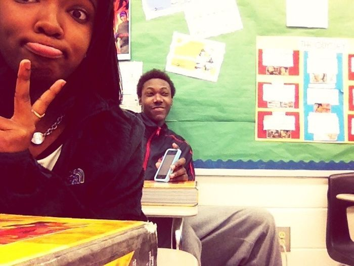 Me And Dante In Class Todaaaaay. ✌