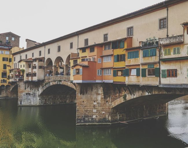 Ponte Vecchio Italy Firenze Ponte Vecchio Built Structure Architecture Building Exterior Building City Water Residential District River Day Bridge House Connection Outdoors The Traveler - 2018 EyeEm Awards The Architect - 2018 EyeEm Awards