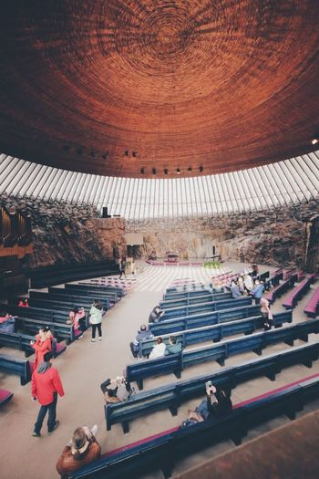 Church Architecture People Finland Helsinki Church Of Rock