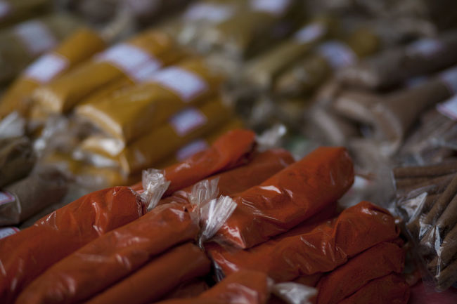 Spices sold in a bag Cayenne Pepper French Guiana Close-up Day Food Food And Drink Freshness Large Group Of Objects Selective Focus Spice Stall Spices Spices Of The World