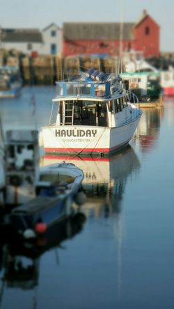 Experimenting Pixlr Blur Moored Boats Motif 1 Rockport Harbour