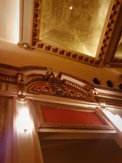 Indoors  No People Low Angle View Gold Colored Fresco Day # Ceiling Lights Stage - Performance Space Auditorium Stage Theater Performing Arts Event EyeEm Best Shots EyeEm Gallery Architecture