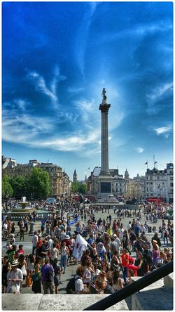 People Watching Soaking Up The Sun Nelson's Column Enjoying The Sun The View From Here 2015 07 04