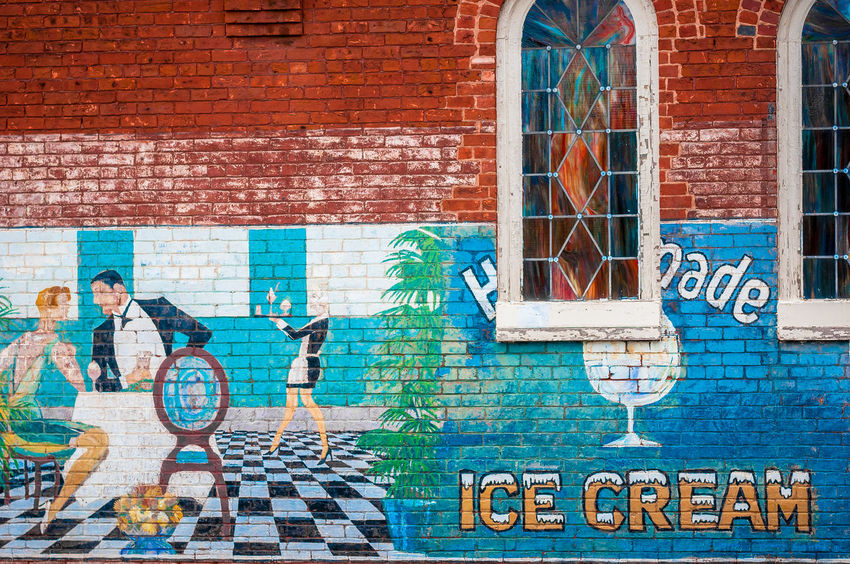 Richmond, VA USA Street Art Art Building Exterior Creativity Day Dining Out Graffiti Home Made Ice Cream Ice Cream Text Wall Window