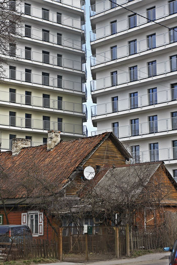 Old meets new Architecture Building Exterior Built Structure House Old And New Architecture Residential Building Retro Styled Town Urban Urban Landscape Vintage Wooden House