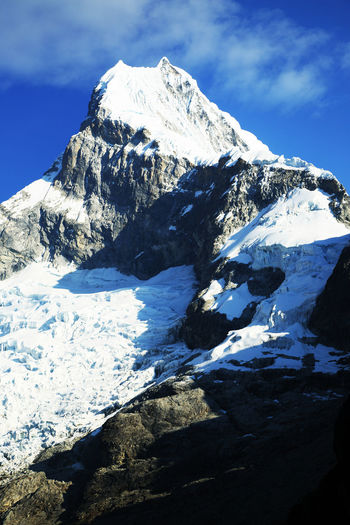 View Of Snowcapped Mountain Peak