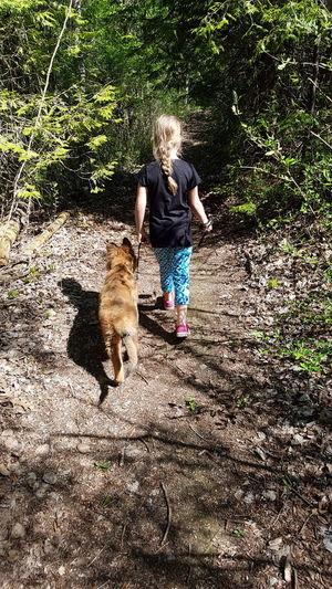 Gsdpuppy German Shepherd GSD Puppy Dog Germanshepherd Daughter Nature Walk Trails