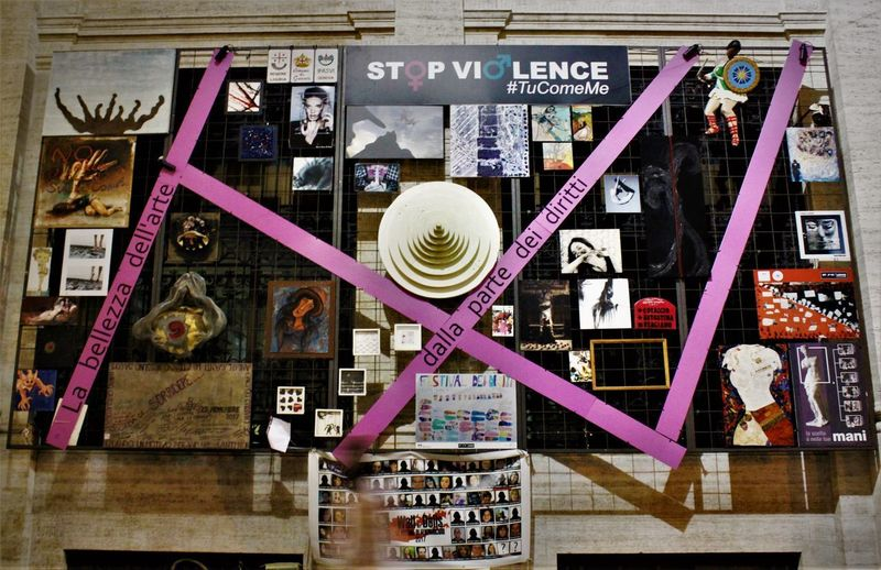 Italia Stop Violence  Communication Feminism Large Group Of Objects Text Variation Women