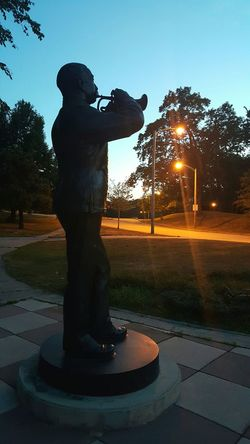Statue Sunrise Early Morning Roger Williams Park