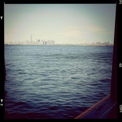 Heading to Manhattan.