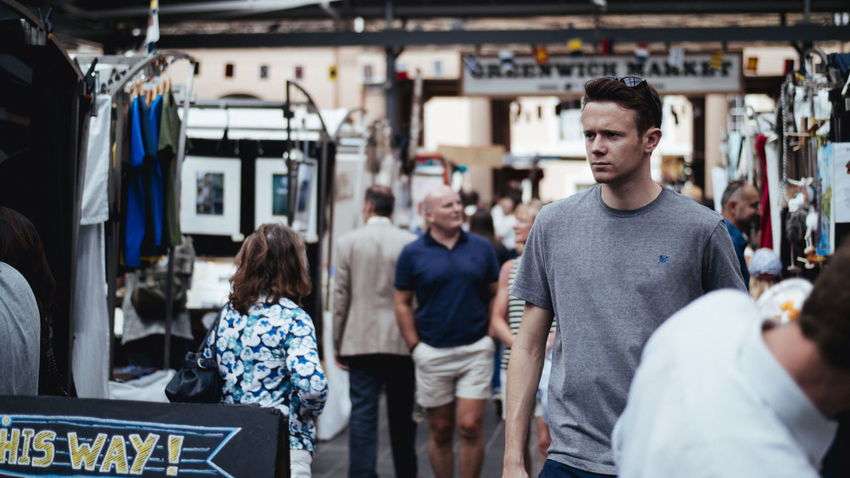 Casual Clothing Focus On Foreground Greenwich,London Havin Fun Lifestyles Market Portrait Selective Focus