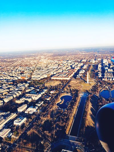 Aerial view of national mall Washington DC Washington Monument National Mall Aerial View EyeEm Selects Aerial View Transportation High Angle View No People Outdoors Day Scenics Landscape Nature Clear Sky Winter Cold Temperature Sky Architecture