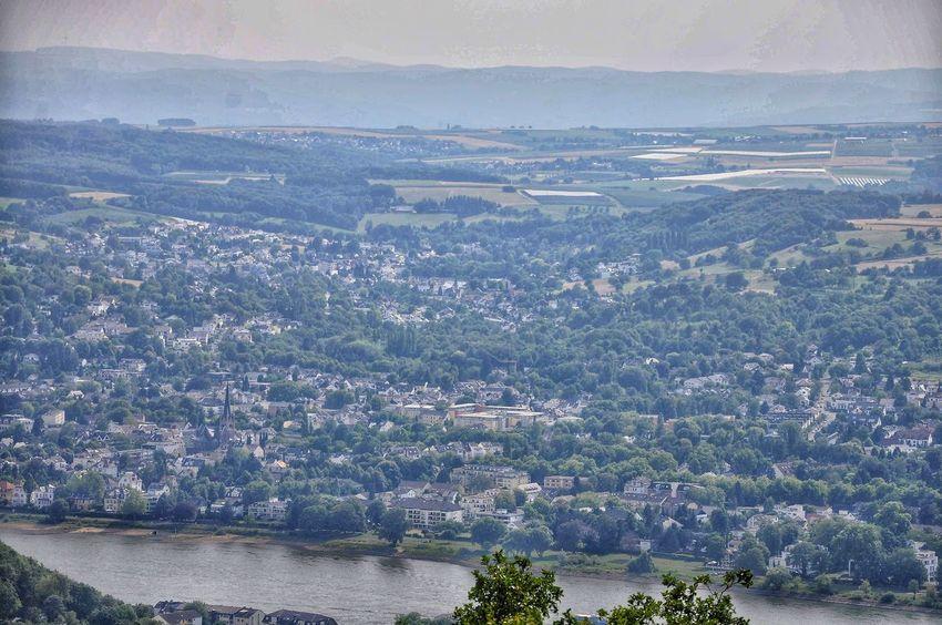 Blick auf Godesberg Water Mountain Blue