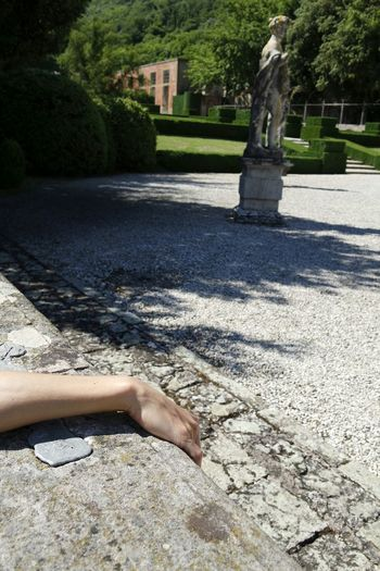 Outdoors Place Of Heart Human Body Part Close-up Casual Shot Women Hand Wall Garden