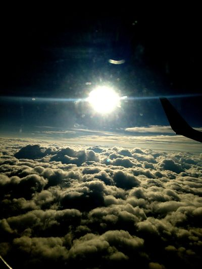 Clouds above Spain, Myself above clouds.