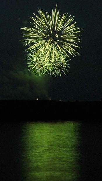Light Colors Green Fireworks