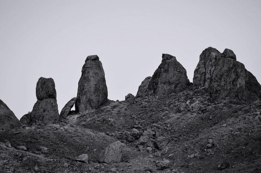 EyeEm Selects Rock Formation Rock - Object Nature Geology Outdoors EyeEmNewHere Eyeemphotography Arid Climate Desert Trona Pinnacles Blackandwhite Black & White