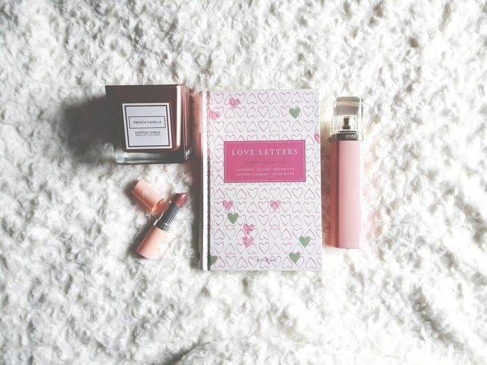 Candle Vanilla Taking Photos Lipstick Pink Color Book Love Letters Perfume Hugo Boss Kate Moss