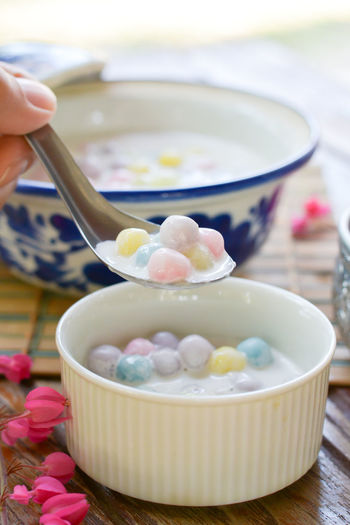 Food Bowl Kitchen Cuisine Dessert Thailand Delicious Sweet Food Coconut Rice Ball Colorfull Yummy Flour Famous Place