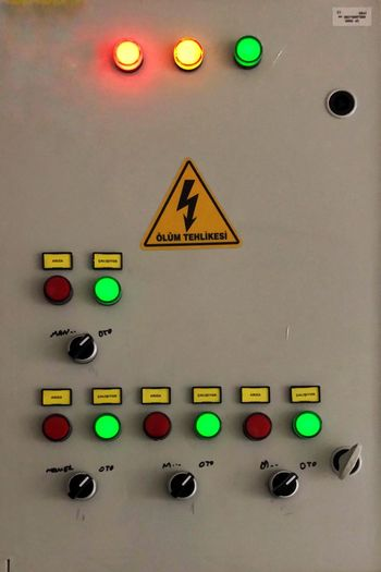 Indoors  Multi Colored Close-up Communication No People Sign Choice Electricity  Control Panel