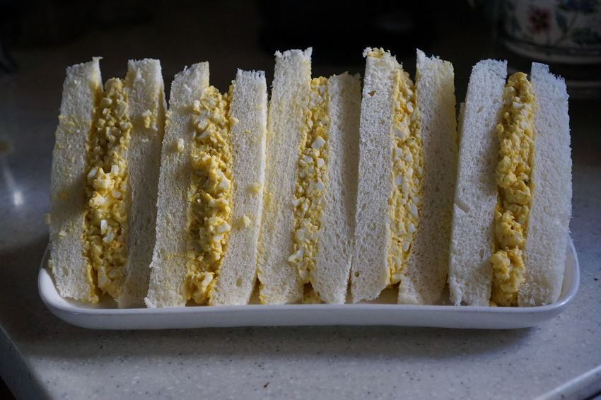 Healthy Eating Food Styling Food Photography Bread Egg Salad Sandwich Egg Sandwich Egg Cooking Lifestyles Daily Life Daily Sony Food Food And Drink No People Sweet Food Indoors  Freshness Close-up Ready-to-eat