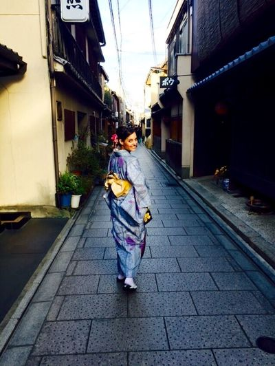Don't be scared, smile to your past. Japan Kyoto Kyoto Street Traditional Costume Kimono Beauty Beautiful Enjoying Life