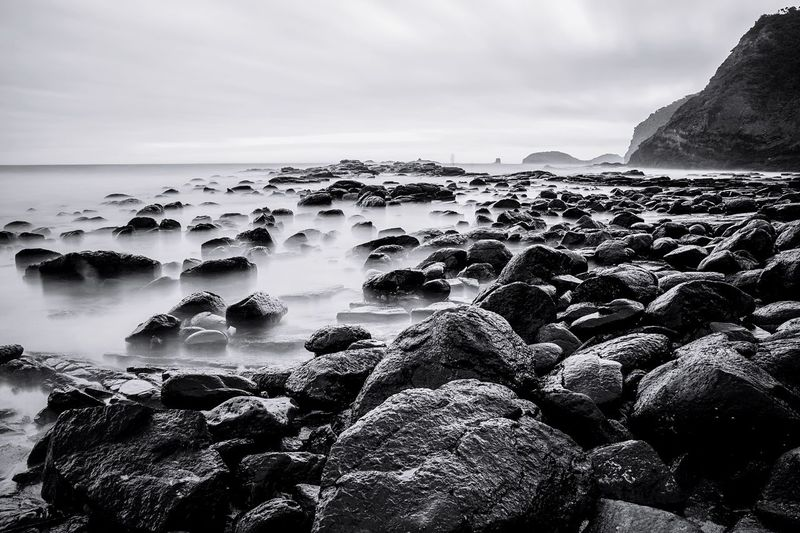 Smoky Rocks Check This Out Big Stopper  Hanging Out Taking Photos Landscape Australian Landscape No People Black And White Non-urban Scene Cape Schanck EyeEm Melbourne Tranquility
