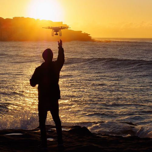 Dji Phantom Drone  Sunrise EyeEm Bestsellers Visual Trends SS16 - Technology Everywhere