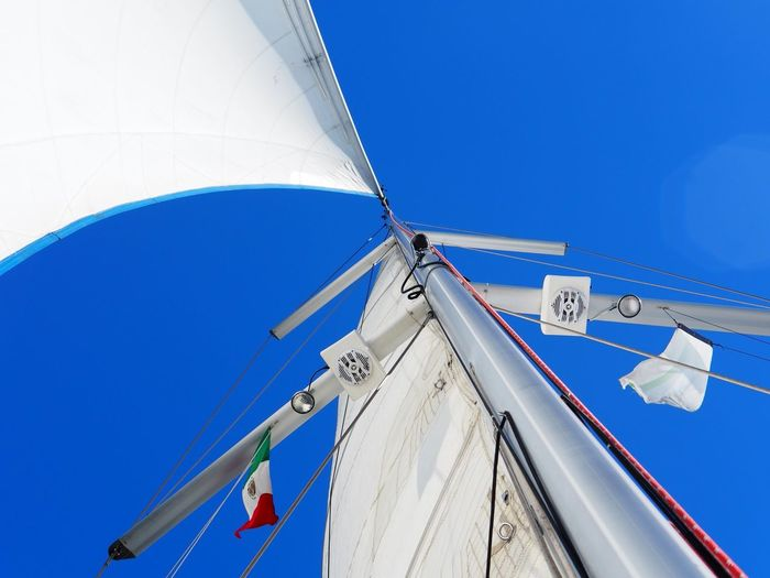 Travel Vacations Wind Sailing Sky Blue Clear Sky Nature Day Low Angle View Sunlight Sailboat Nautical Vessel Sunny Outdoors