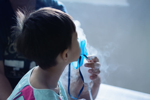 Pediatric asthma. Bed Breathing Care Hospital Medicine Allergy Asthma Asthmatic Child Disease Health Inhalation Inhaler Kid Little Mask Nebulizer Oxygen Patient Pediatrics Respiratory Rsv Sick Sickness Spray