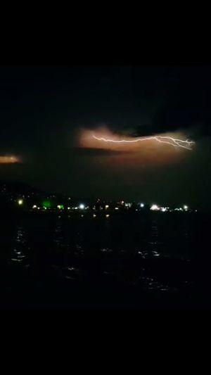 Storm Lightning Sky Night City Cloud - Sky Architecture No People Illuminated Dark City Life